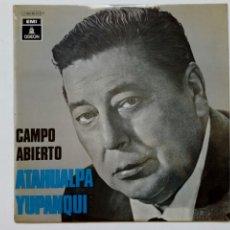 Discos de vinilo: LP: ATAHUALPA YUPANQUI - CAMPO ABIERTO - (EMI ODEON, 1970) - INDIECITO DORMIDO, TU QUE PUEDES VUELVE. Lote 215071375