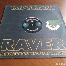 Discos de vinilo: LIQUID BASS ?– NATION 2 NATION - IMPORTANT RAVER ?– RAV006-LP-BELGICA-1995-. Lote 215090590