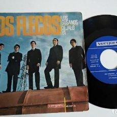 Discos de vinilo: SINGLE-LOS FLECOS-LOS GUSANOS-1966-SPAIN-EXCELENTE CONDICIONES-. Lote 215098962