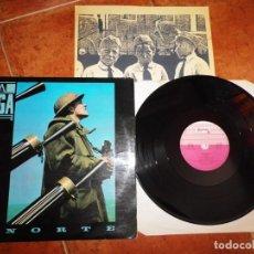 Discos de vinilo: LA FUGA NORTE LP VINILO DEL AÑO 1986 CON ENCARTE CONTIENE 6 TEMAS ANTONIO CAMINERO. Lote 215100561