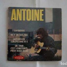 Discos de vinilo: ANTOINE LA GUERRE, DISQUES VOGUE EPL 8401, MADE IN FRANCE. Lote 215115321