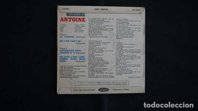 Discos de vinilo: ANTOINE LA GUERRE, DISQUES VOGUE EPL 8401, MADE IN FRANCE - Foto 2 - 215115321