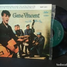 Discos de vinilo: GENE VINCENT RED BLUE JEANS AND A PONY,,+3 EP SPAIN PEPETO TOP. Lote 215124652