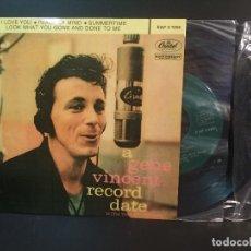 Discos de vinilo: GENE VINCENT I LOVE YOU + 3 EP SPAIN PEPETO TOP. Lote 215124753