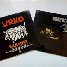 Discos de vinilo: LOTE 2 LP: URKO - SAKONKI MAITE DUT EUSKAL-HERRIA (1976) + HEMEN GAUDE! (1987) - FOLK VASCO 70S. Lote 215133750