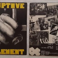 Discos de vinilo: DISRUPTIVE ELEMENT - EP - PUNK ROCK - HARDCORE. Lote 215147436