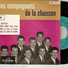 "Discos de vinilo: LES COMPAGNONS DE LA CHANSON 7"" FRANCIA EP 45 SA JEUNESSE + 3 SINGLE VINILO 1957 IMPORTACION POP VER. Lote 215147701"
