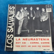 Disques de vinyle: LOS SALVAJES.LA NEURASTENIA/SOY ASI/CORRE, CORRE/THESE BOOTS ARE MADE FOR WALKING -EP AÑO 1966. Lote 215204930