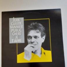 Discos de vinilo: JEAN CLAUDE VANNIER, PUBLIC CHERI LP, PATTON... Lote 215249348