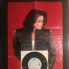 """Discos de vinilo: MICHAEL JACKSON WILL YOU BE THERE 7"""" CON POSTER DESPLEGABLE 1993 VINILO DISCO. Lote 215277476"""