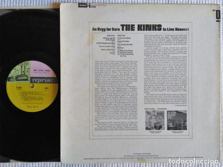 "Discos de vinilo: THE KINKS - "" THE LIVE KINKS "" LP MONO USA 1967 - Foto 2 - 215278625"