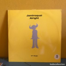 Discos de vinilo: JAMIROQUAI ALRIGHT 2 DISCOS SINGLES. Lote 215325760