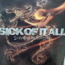 Discos de vinilo: SICK OF ALL- SCRATCH THE SURFACE - USA LP 1994- RED VINYL + ENCARTE- EXC. ESTADO.. Lote 215332923