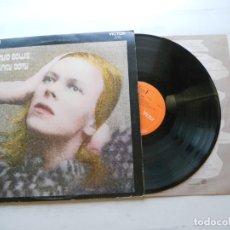 Discos de vinilo: DAVID BOWIE – HUNKY DORY - LP EDICIÓN UK 1971 VG++/VG++ ENCARTE LETRAS COLOR SEPIA. Lote 215335276