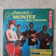 Discos de vinilo: ARMONIA MONTEZ Y EL TRIO FESTIVAL. Lote 215344220