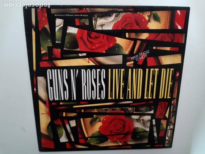 GUNS N´ROSES- LIVE AND LET DIE - MAXI SINGLE SPAIN 1991 - EXC. ESTADO. (Música - Discos de Vinilo - Maxi Singles - Heavy - Metal)