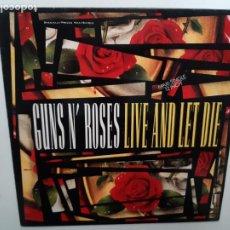 Discos de vinilo: GUNS N´ROSES- LIVE AND LET DIE - MAXI SINGLE SPAIN 1991 - EXC. ESTADO.. Lote 215350446