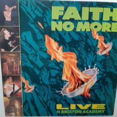 Discos de vinilo: FAITH NO MORE- LIVE AT THE BRIXTON ACADEMY- HOLLAND LP 1991- VINILO EXC. ESTADO.. Lote 215356122