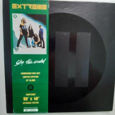 Discos de vinilo: EXTREME- STOP THE WORLD- UK MAXI SINGLE BOX SET 1992- LIMITED EDITION+ ENCARTE + POSTER.. Lote 215361597