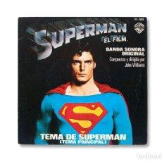 Discos de vinilo: SUPERMAN ''TEMA DE SUPERMAN'' / TEMA DE AMOR DE SUPERMAN'' - SINGLE. Lote 215363156