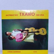 Disques de vinyle: MOTRIKO'KO TXAIRO BIKOTEA. SINGLE 1978. CINSA.. Lote 215369931