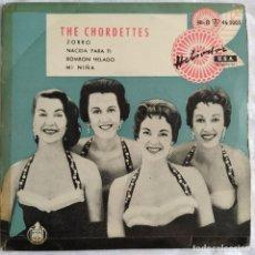 """Discos de vinilo: THE CHORDETTES - ZORRO / NACIDA PARA TI / BOMBON HELADO / MI NIÑA (7"""", EP) (HELIODOR) (D:VG+). Lote 215412043"""