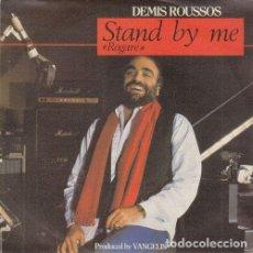 Disques de vinyle: DEMIS ROUSSOS - STAND BY ME - SINGLE DE VINILO PRODUCIDO POR VANGELIS - EDICION ESPAÑOLA. Lote 215425103