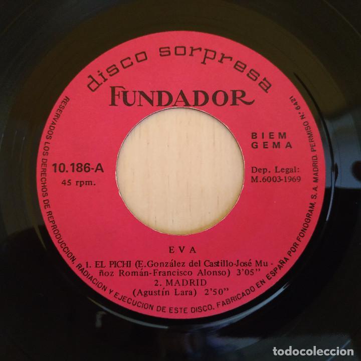 Discos de vinilo: EVA - EL PICHI / MADRID / LOS NARDOS / ROSA DE MADRID - EP 1969 - FUNDADOR MUY RARO EXCELENTE ESTADO - Foto 2 - 215435653