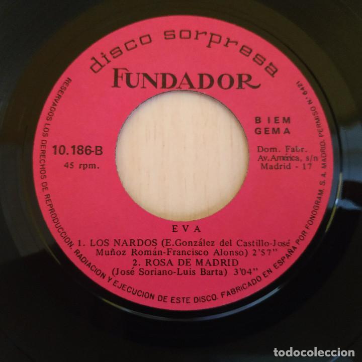 Discos de vinilo: EVA - EL PICHI / MADRID / LOS NARDOS / ROSA DE MADRID - EP 1969 - FUNDADOR MUY RARO EXCELENTE ESTADO - Foto 3 - 215435653