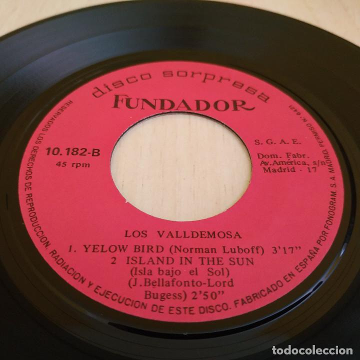 Discos de vinilo: LOS VALLDEMOSA - OJOS DE ESPAÑA / MONSIEUR DUPONT / YELOW BIRD + 1 - EP FUNDADOR DEL 1969 EXCELENTE - Foto 3 - 215445087