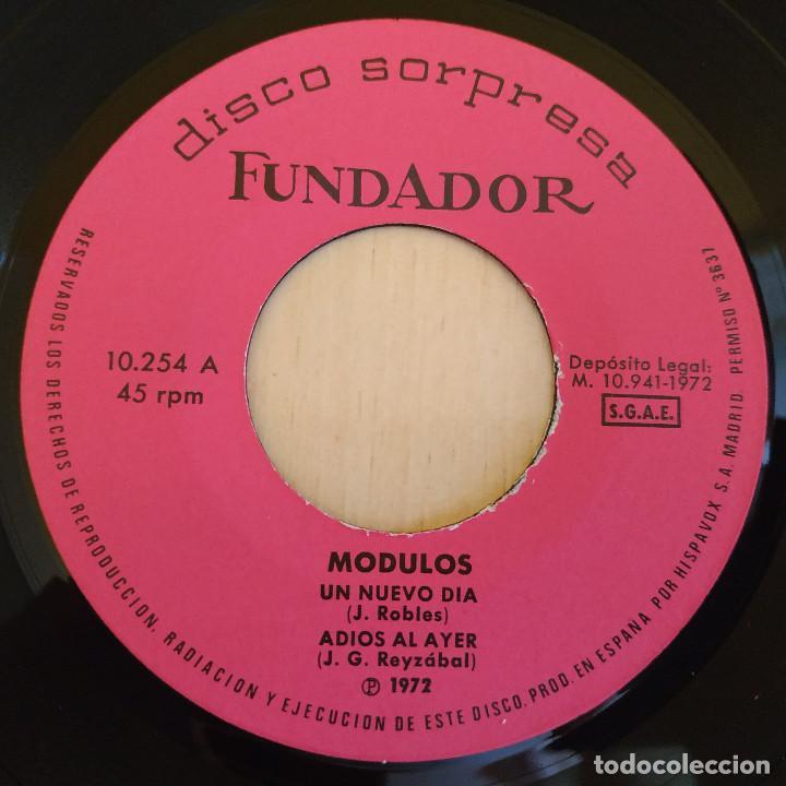 Discos de vinilo: MODULOS - UN NUEVO DIA / ADIOS AL AYER / SOLO TU / QUIERO OLVIDAR - EP FUNDADOR DE 1972 EX. ESTADO - Foto 3 - 215447116