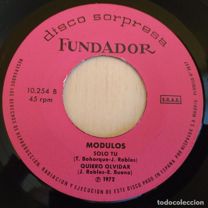 Discos de vinilo: MODULOS - UN NUEVO DIA / ADIOS AL AYER / SOLO TU / QUIERO OLVIDAR - EP FUNDADOR DE 1972 EX. ESTADO - Foto 4 - 215447116