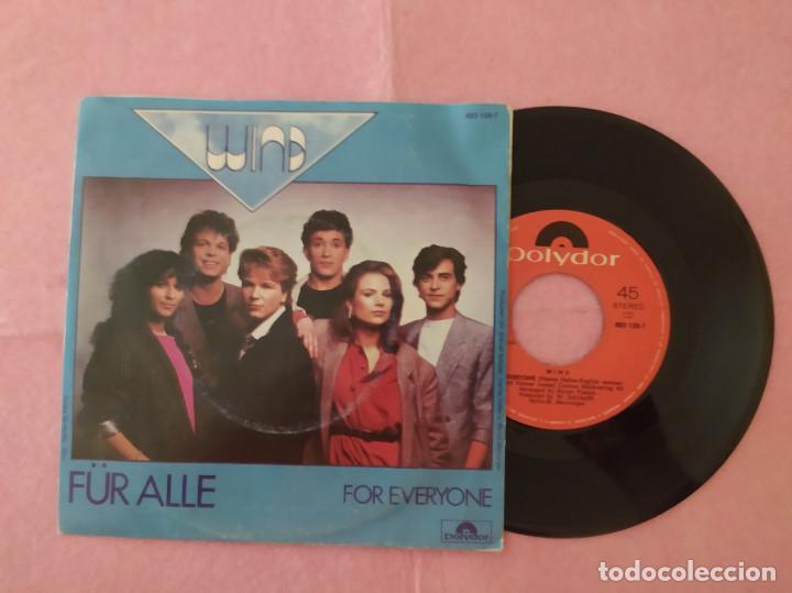 """7"""" WIND ?– FÜR ALLE / FOR EVERYONE - JUPITER RECORDS ?883 129-7 - PORTUGAL PRESS (EX-/EX) (Música - Discos - Singles Vinilo - Electrónica, Avantgarde y Experimental)"""