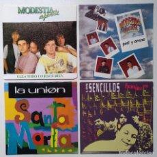 """Discos de vinilo: [[ LOTE 7"""" 45RPM ]] LOS SENCILLOS -BONITO ES / MODESTIA APARTE / LA UNIÓN / MODESTIA APARTE. Lote 215505217"""