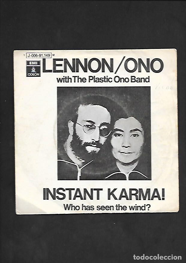 LENNON / ONO INSTANT KARMA !, ODEON J 006 - 91.149 (Música - Discos - Singles Vinilo - Pop - Rock - Internacional de los 70)