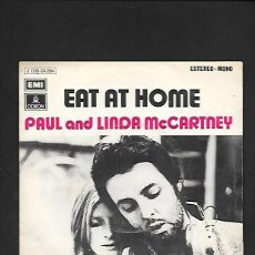 Discos de vinilo: PAUL AND LINDA MCCARTNEY EAT AT HOME, EMI ODEON J 006 - 04.864. Lote 215519606