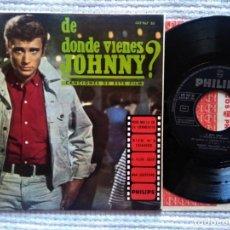 """Discos de vinilo: JOHNNY HALLYDAY - """" DE DONDE VIENES JOHNNY? """" EP 7"""" MONO SPAIN 1964. Lote 215551688"""