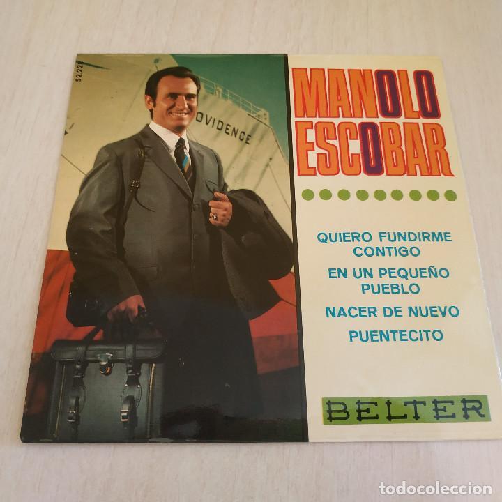 MANOLO ESCOBAR - QUIERO FUNDIRME CONTIGO + 3 RARO EP DE VINILO BELTER 52.228 DEL AÑO 1968 COMO NUEVO (Música - Discos de Vinilo - EPs - Flamenco, Canción española y Cuplé)