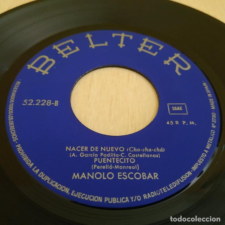 Discos de vinilo: MANOLO ESCOBAR - QUIERO FUNDIRME CONTIGO + 3 RARO EP DE VINILO BELTER 52.228 DEL AÑO 1968 COMO NUEVO - Foto 4 - 215557333