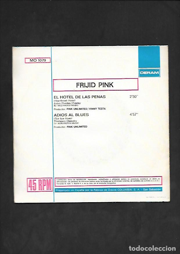 Discos de vinilo: FRIJID PINK EL HOTEL DE LAS PENAS, DERAM MO 1079 - Foto 2 - 215563283