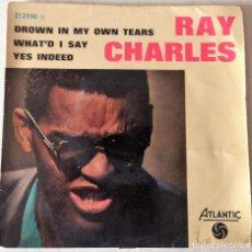 Discos de vinil: RAY CHARLES - DROW IN MY OWN TEARS ATLANTIC EDIC. FRANCESA - 1962. Lote 215569142