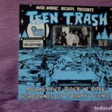 Discos de vinilo: THE CRYPTONES - TEEN TRASH VOL. 1 (LP). Lote 215574680