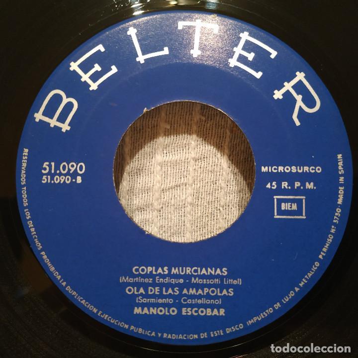 Discos de vinilo: MANOLO ESCOBAR - SI YO TUVIERA LA LLAVE + 3 - RARO EP BELTER DEL AÑO 1964 EN ESTADO COMO NUEVO - Foto 4 - 215585516