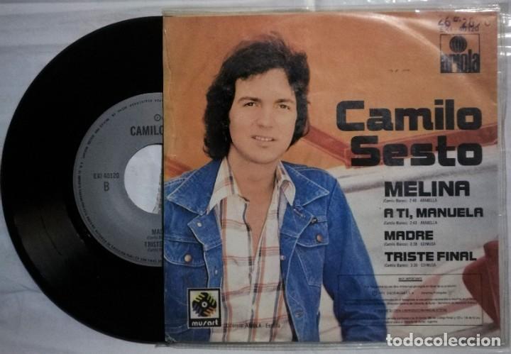 Discos de vinilo: Camilo Sesto - Melina / A Ti, Manuela / Madre / Triste Final - 1975 México (raro) - Foto 2 - 215596508