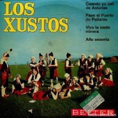 Disques de vinyle: REGIONAL (LOS XUSTOS) CUANDO YO SALI DE ASTURIAS + 3 (EP 1967). Lote 215601756