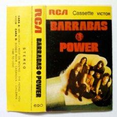 Discos de vinilo: CARÁTULA CASSETTE: BARRABAS - POWER (RCA, 1973) - SIN CASSETTE, SÓLO CARÁTULA -. Lote 215620232