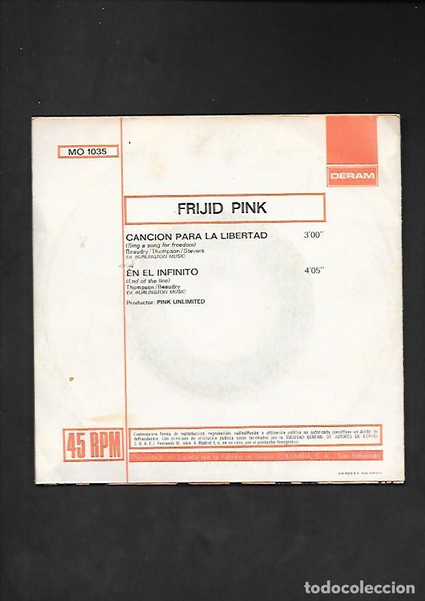 Discos de vinilo: FRIJID PINK CANCION PARA LA LIBERTAD, DERAM MO 1035 - Foto 2 - 215649837