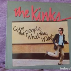 Discos de vinilo: THE KINKS – GIVE THE PEOPLE WHAT THEY WANT (LP). Lote 215651605