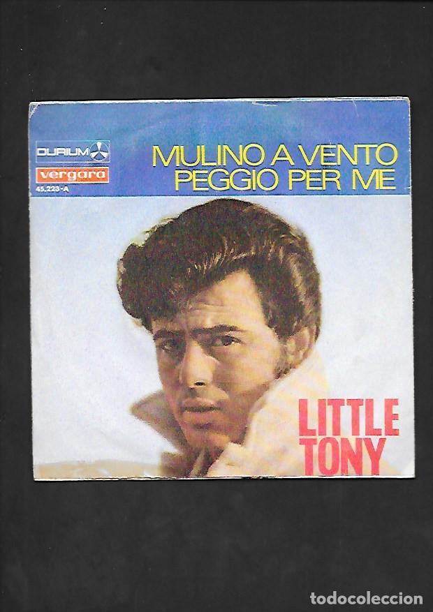 Discos de vinilo: LITTLE TONY MULINO A VENTO, DURIUM VERGARA 45.223 - A - Foto 2 - 215652297
