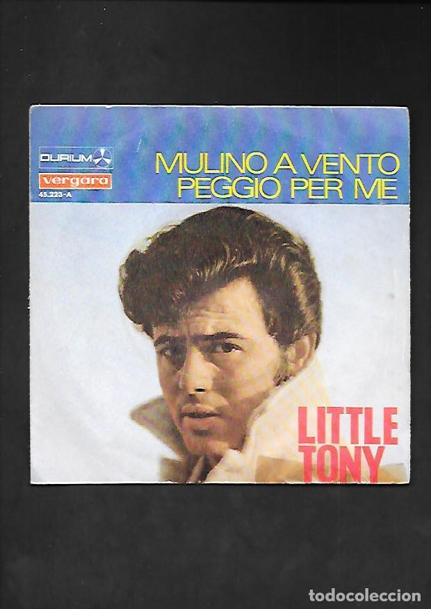 LITTLE TONY MULINO A VENTO, DURIUM VERGARA 45.223 - A (Música - Discos - Singles Vinilo - Canción Francesa e Italiana)